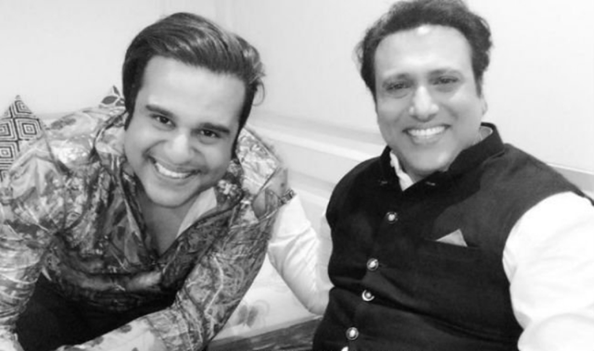 (from left)Krushna Abhishek and Govinda