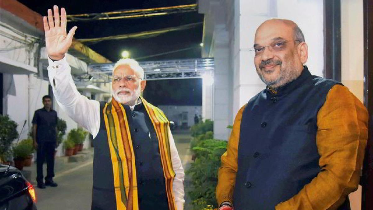 PM Modi with Amit Shah