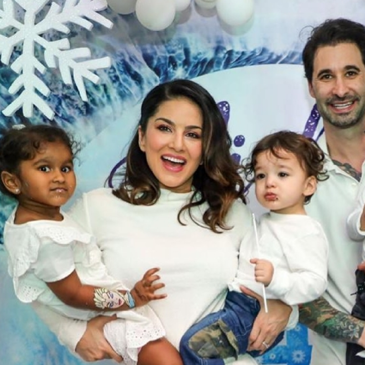 Sunny Leone throws a 'Frozen' themed birthday bash for daughter Nisha