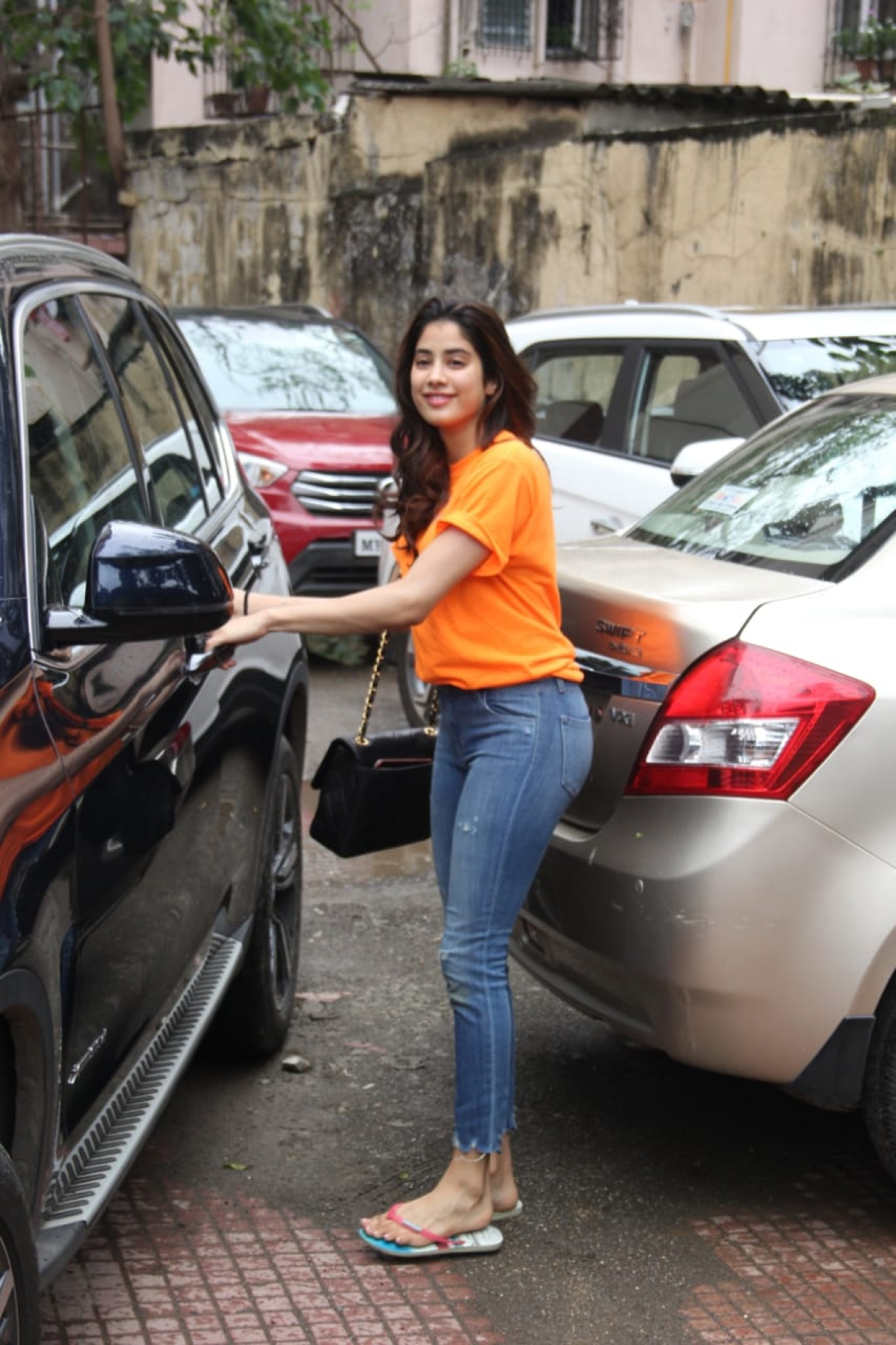 Janhvi Kapoor spotted at her pilates gym
