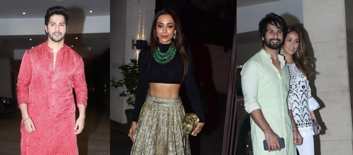 Varun Dhawan, Shahid Kapoor and Mira Kapoor attend Jackky Bhagnani Diwali bash