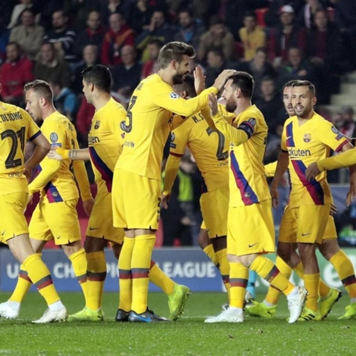 Barcelona struggle in 2-1 victory over Slavia Prague