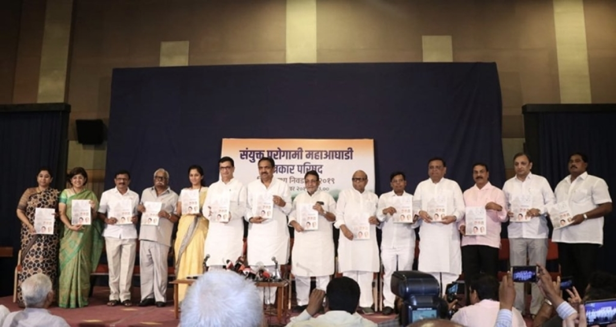 Congress-NCP alliance release manifesto for Maharashtra Assembly polls