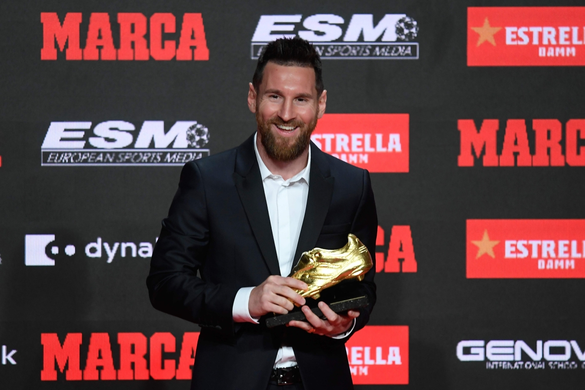 Sixth Golden Shoe for Lionel Messi