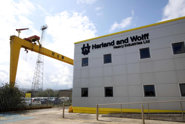 Harland and Wolff shipyard in Belfast