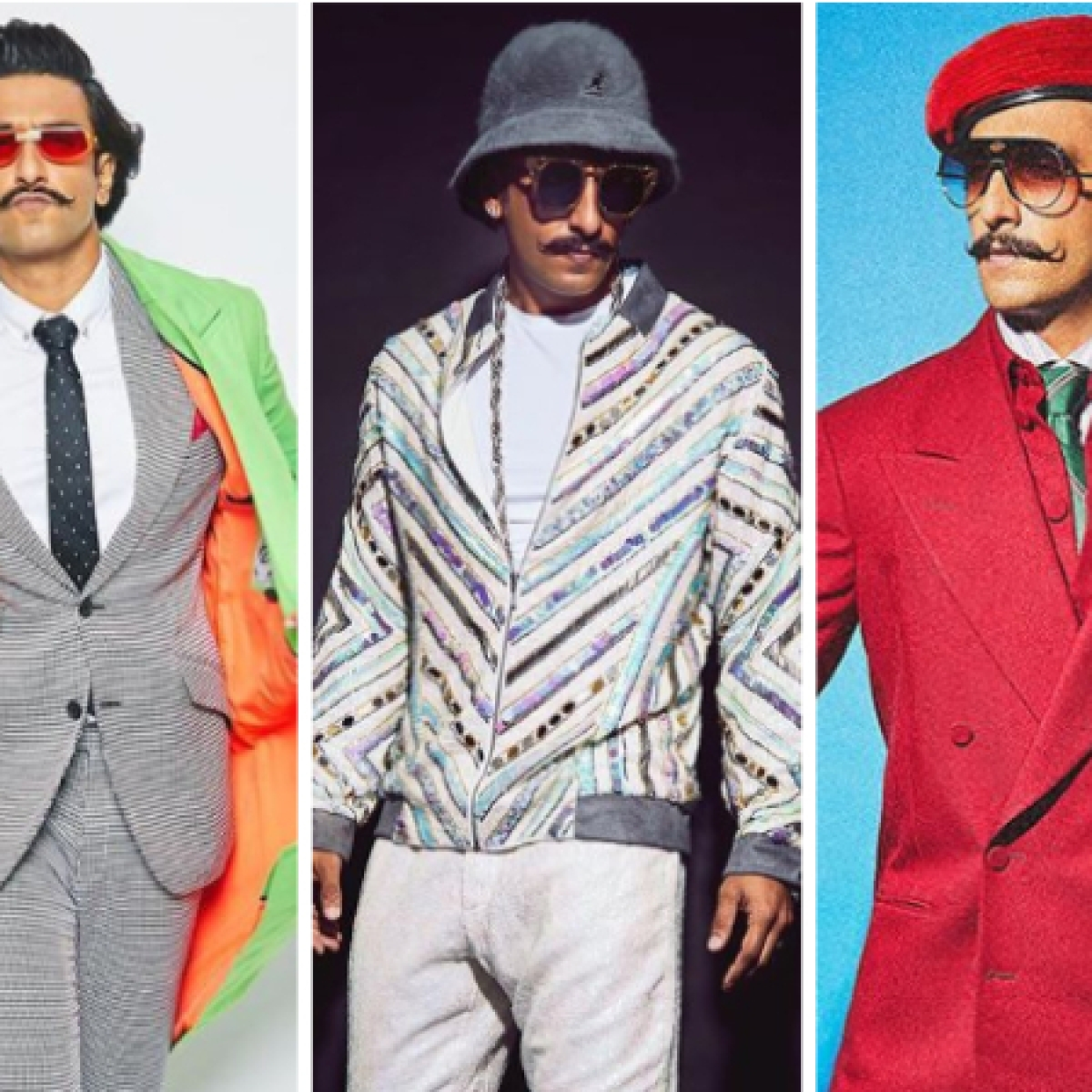 3 Looks in a day: Take quirky fashion cues from Ranveer Singh