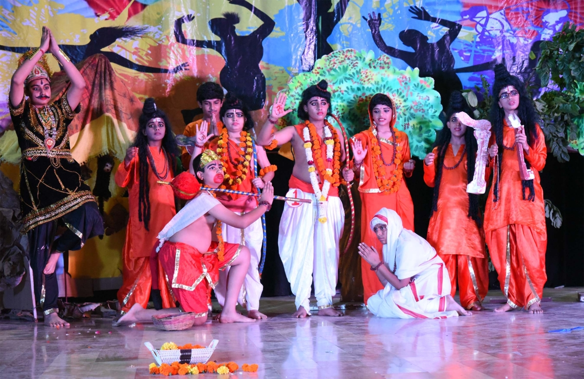 Bhopal: Students celebrate Deepawali through cultural activities