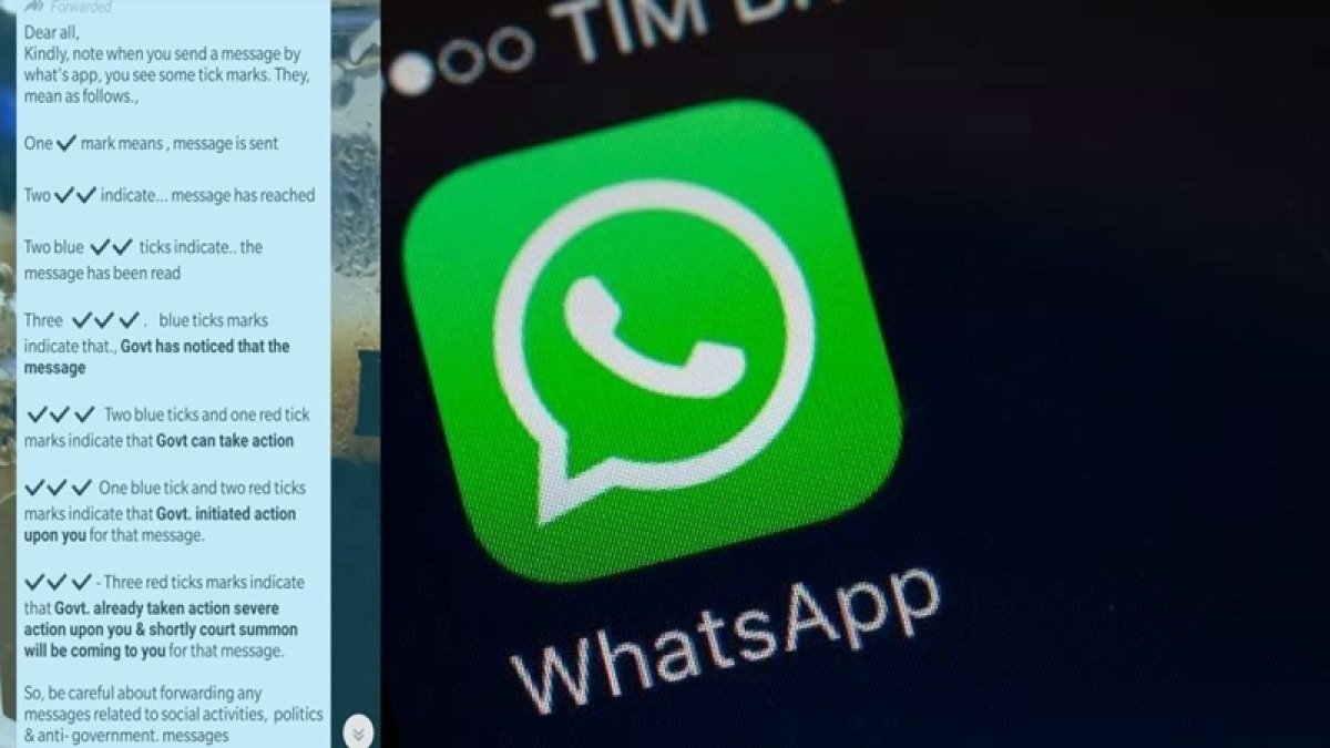 PIB Fact Check; No, there are no red ticks on WhatsApp that indicate police action will be taken against you