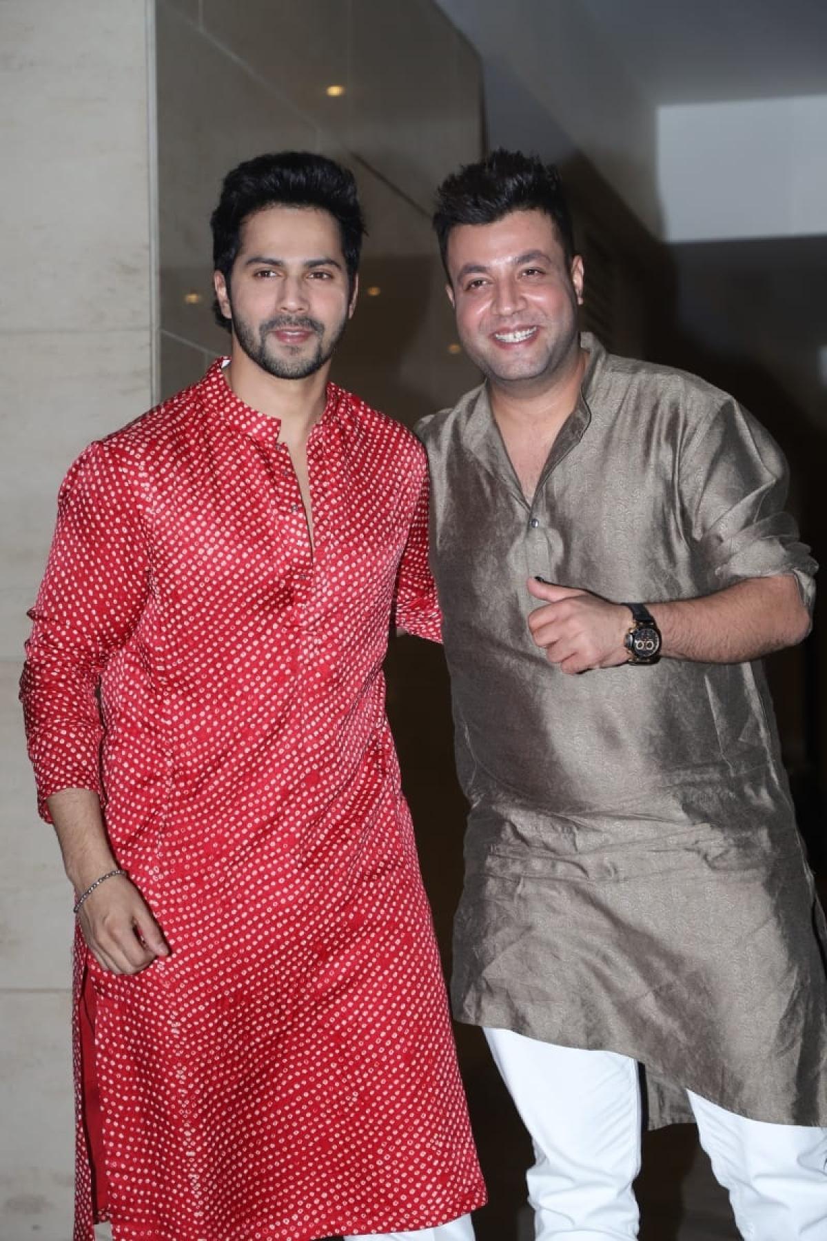 Varun Dhawan with Varun Sharma