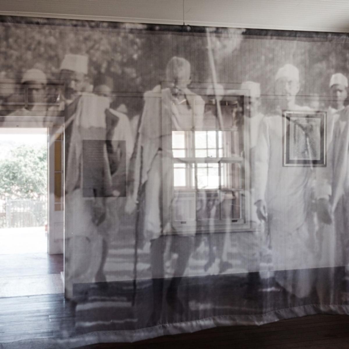 Shocker: As nation celebrates Bapu, Mahatma Gandhi's poster vandalised in MP's Bapu Bhavan