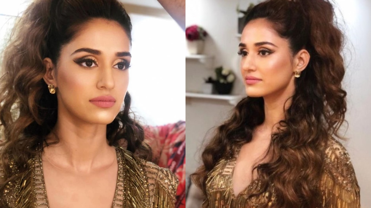 Breaking the internet again! Disha Patani dazzles in shimmery gold outfit