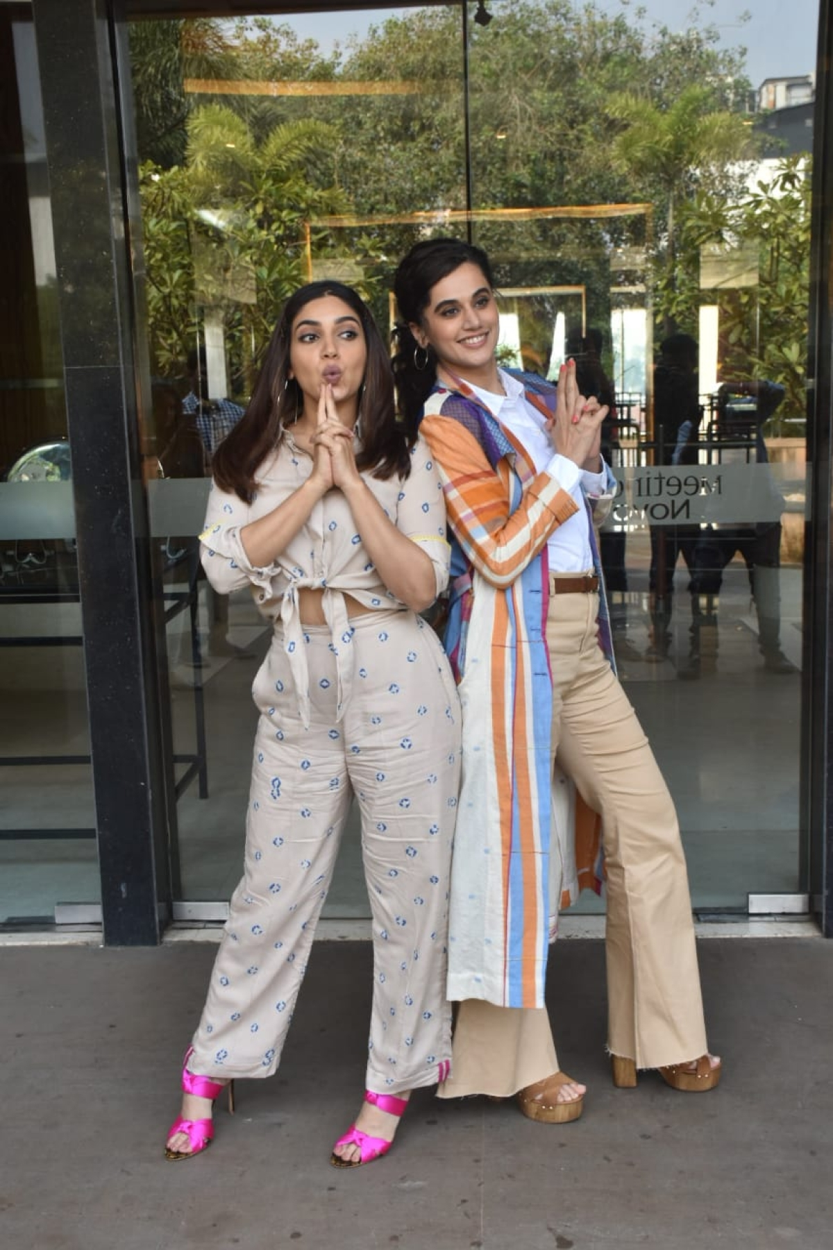 Taapsee Pannu and Bhumi Pednekar at promotions