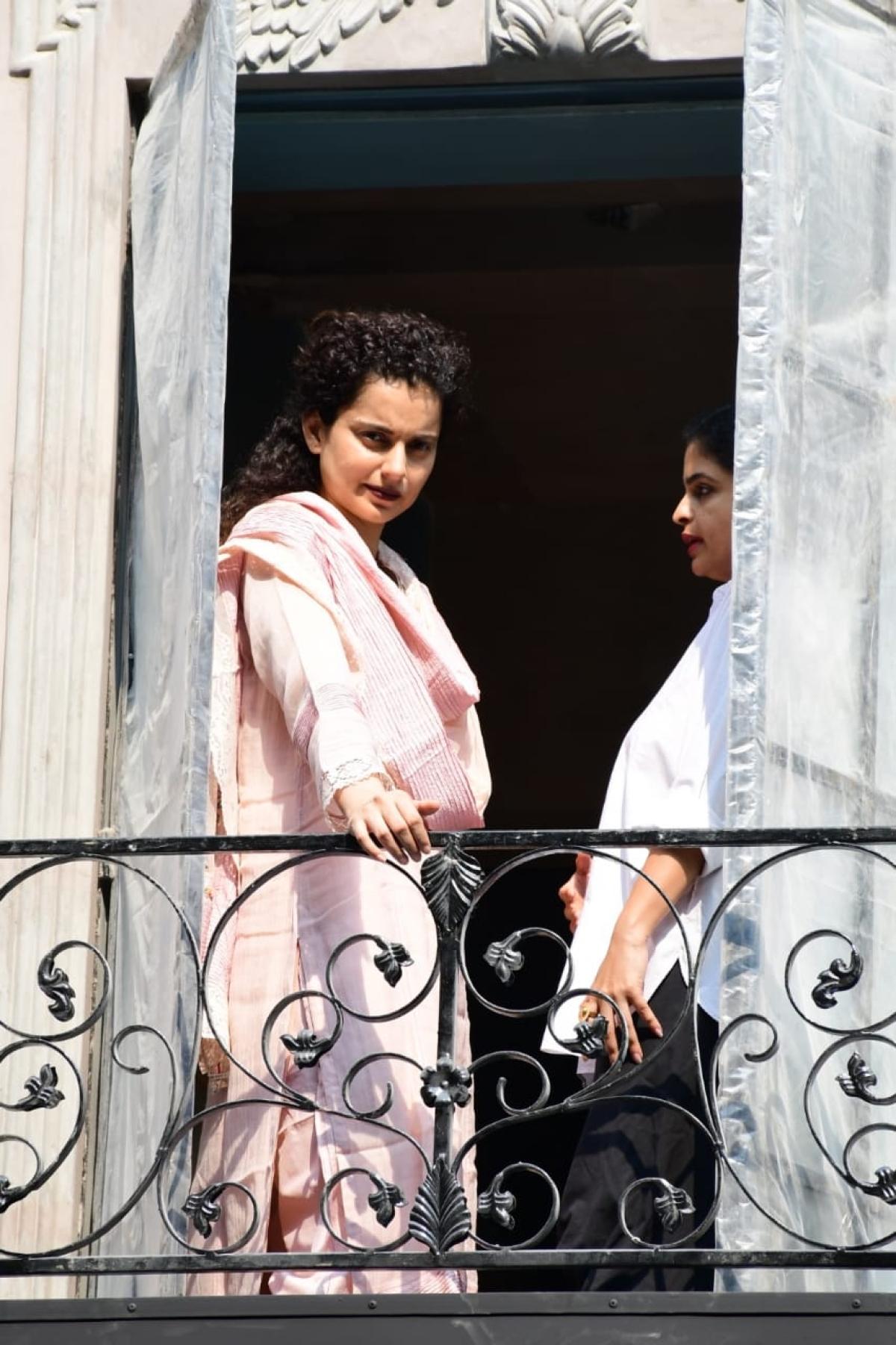 Kangana Ranaut snapped at office in Mumbai