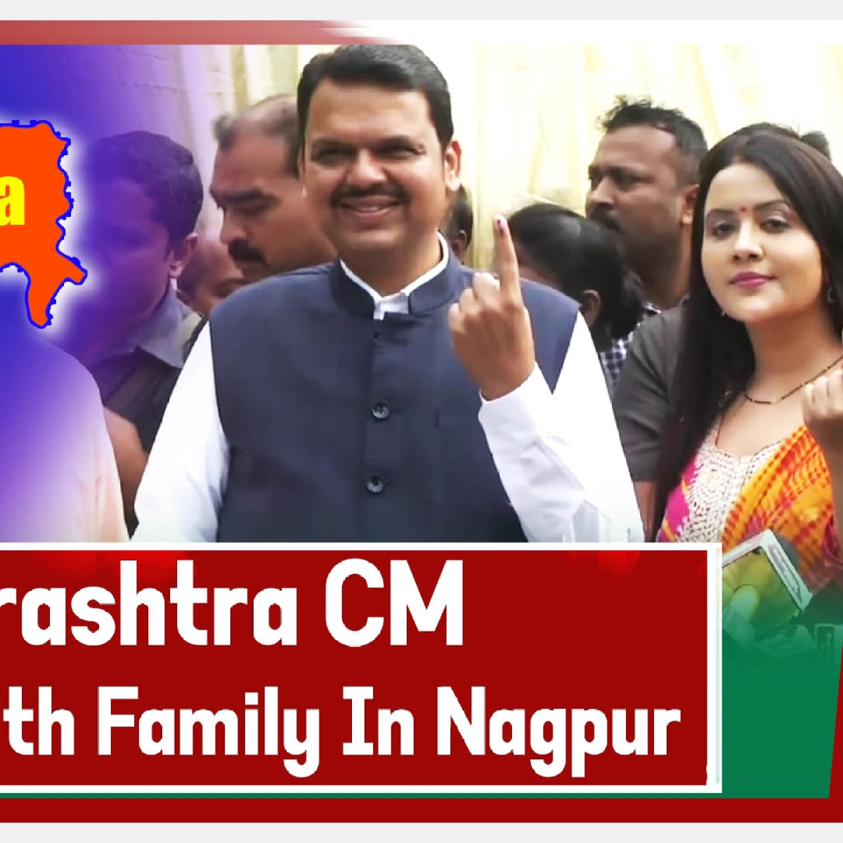 Maharashtra Chief Minister Devendra Fadnavis cast vote with family in Nagpur