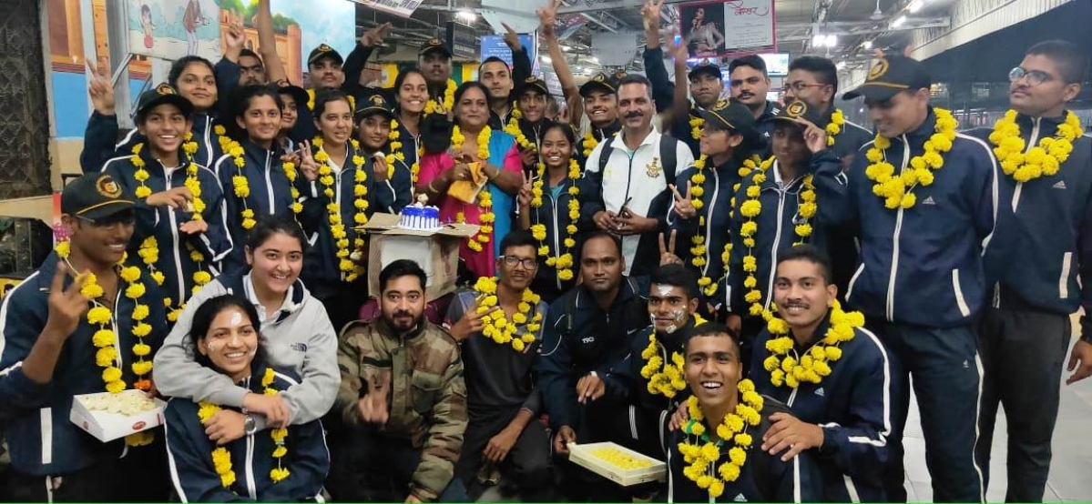 MP&CG NCC air wing cadets secured third position in national level camp organised in NCC for air wing cadets.