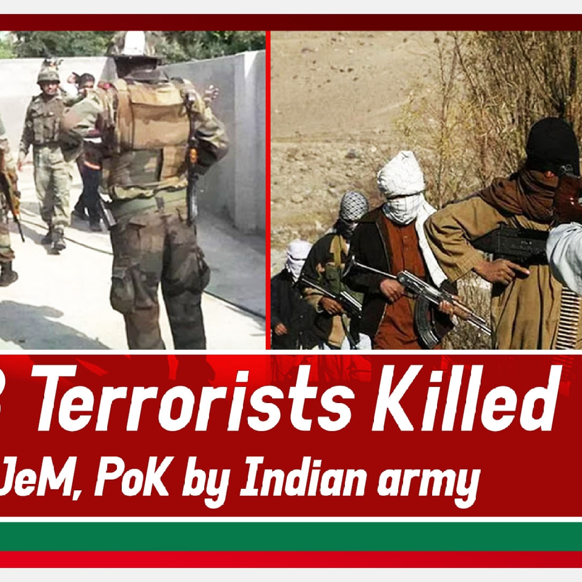 18 Terrorists Killed, JeM Launch Pads Destroyed In PoK By Indian Army
