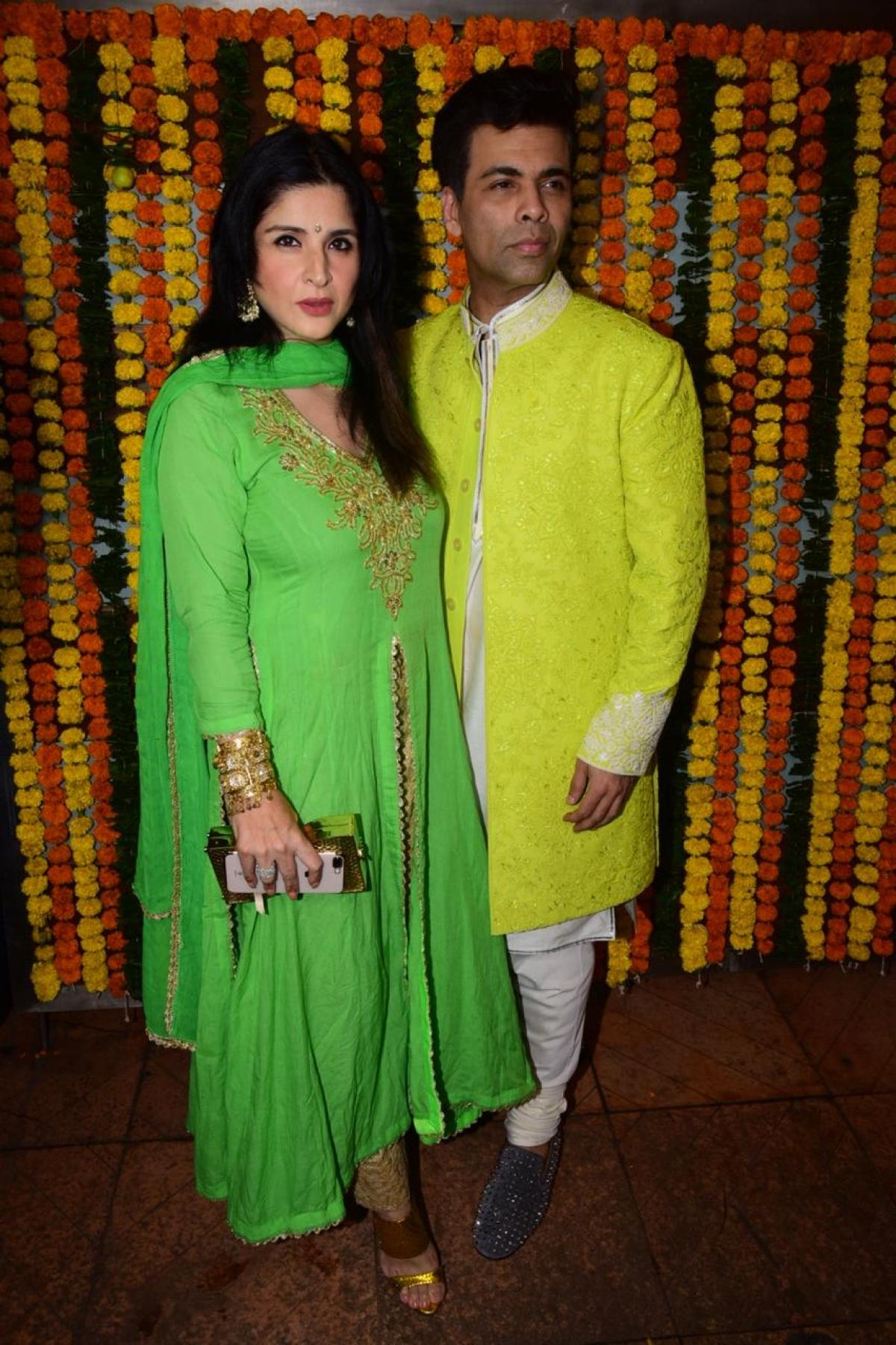 Karan Johar with a friend