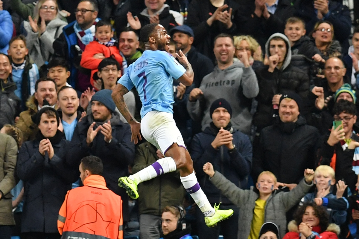 A Sterling effort by Raheem in Champions League