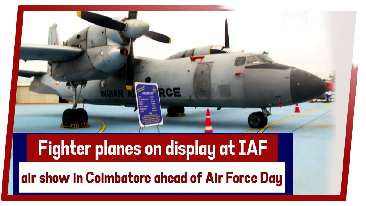 Watch: Fighter planes on display at IAF's air show in Coimbatore ahead of Air Force Day