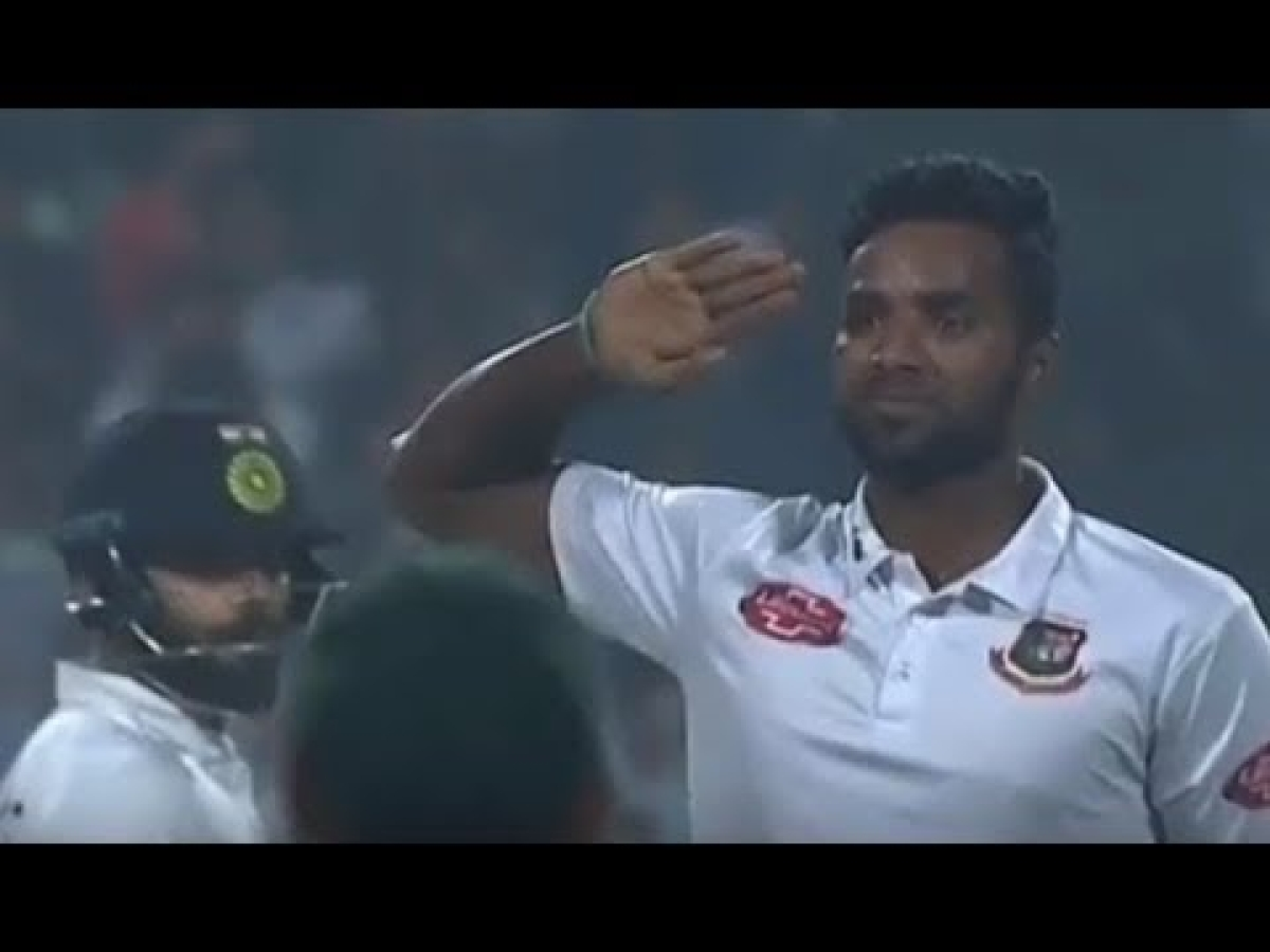 Watch: Ebadat Hossain salutes Virat Kohli after getting his prized wicket