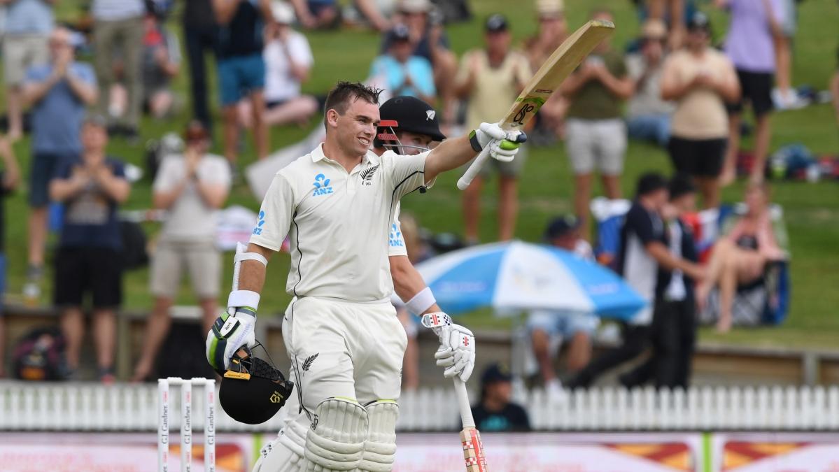 New Zealand vs England: Tom Latham ton props Kiwis
