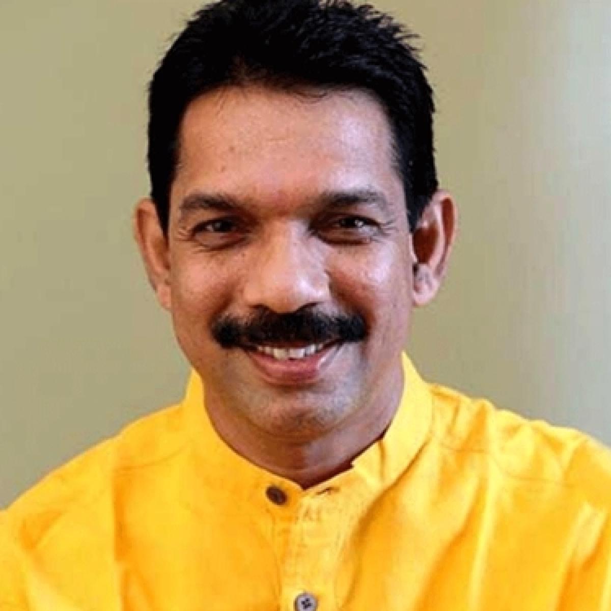 Mangaluru City Corporation polls: BJP president Nalin Kumar Kateel casts his vote at Ward No 26