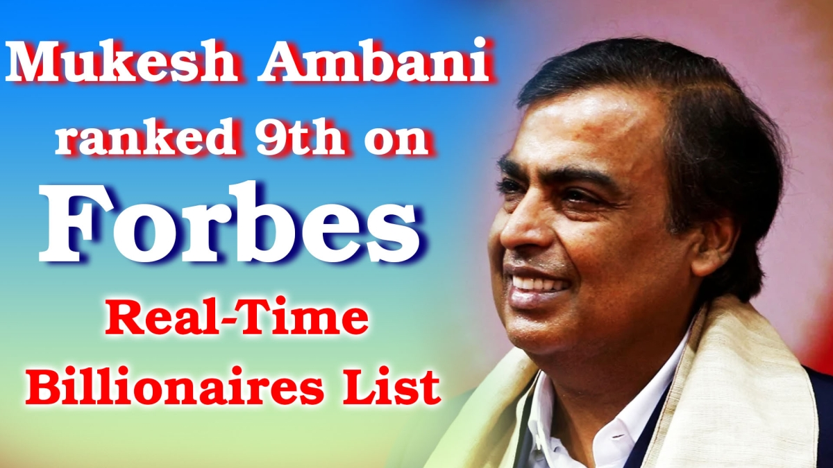 Mukesh Ambani ranked 9th on Forbes' Real-Time Billionaires List