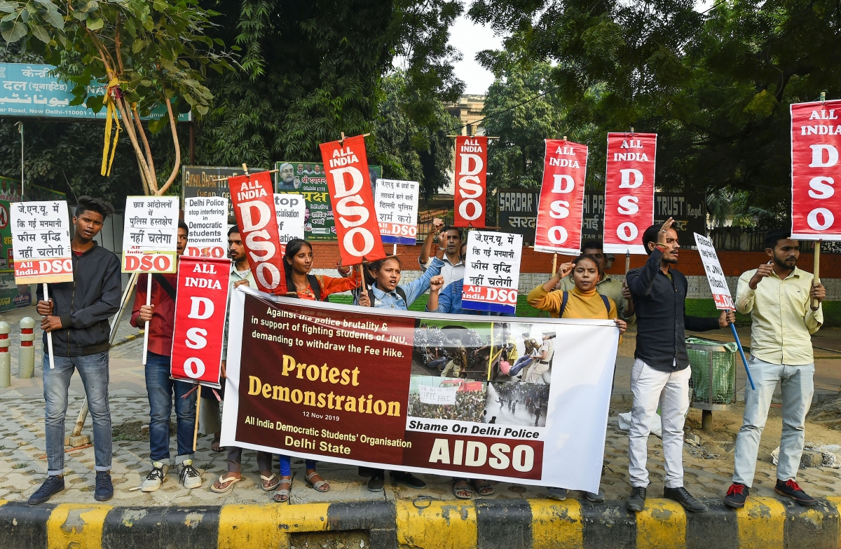 Teachers protest against New Education Policy in Delhi