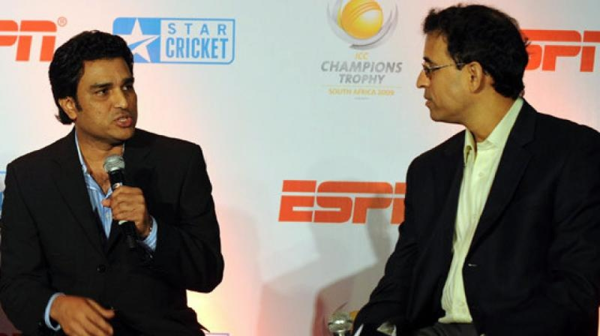 Sanjay Manjrekar just mocked Harsha Bhogle for not playing cricket and Twitter is not pleased