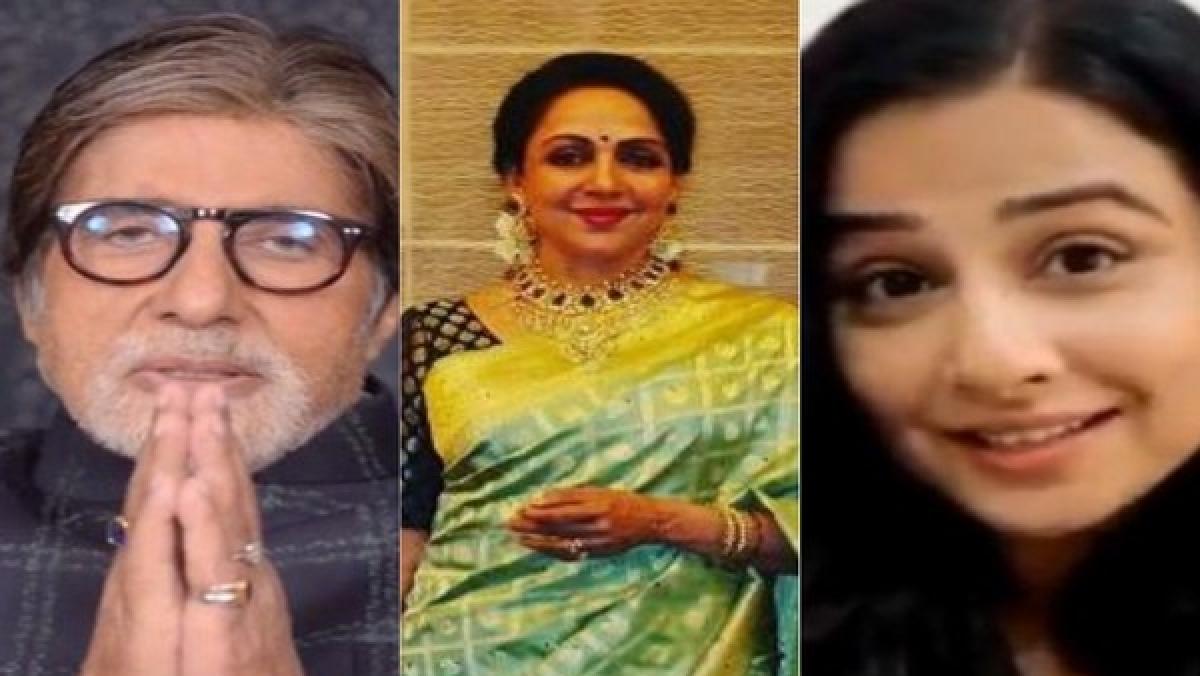 (L_R) Amitabh Bachchan, Hema Malini, Vidya Balan