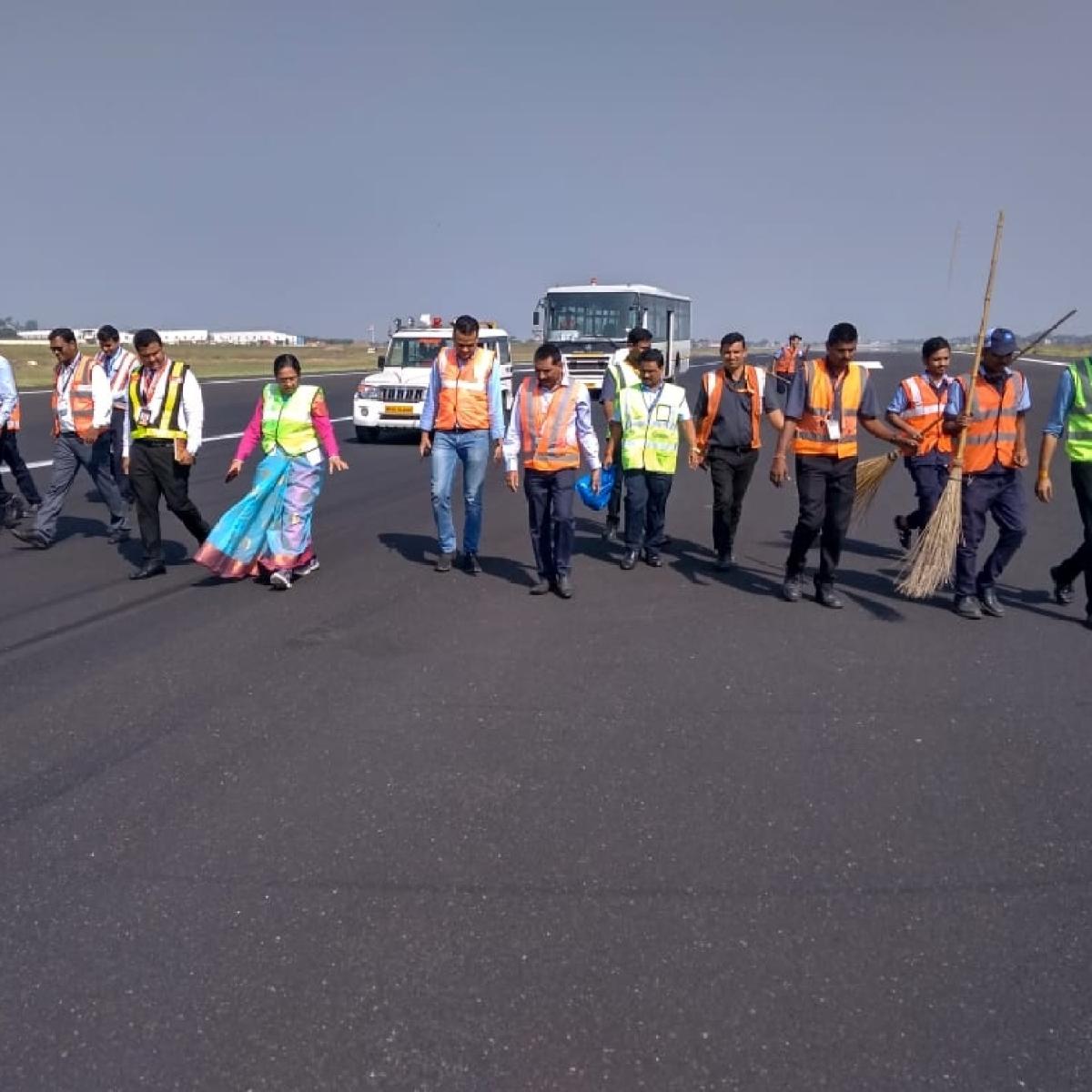 Indore: FOD walk done on runway
