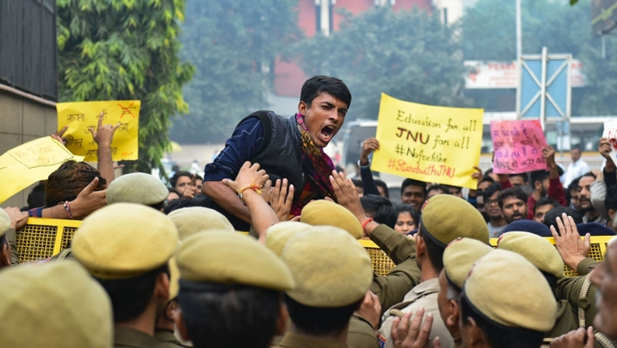 Delhi Police took to the streets, handled multiple protests