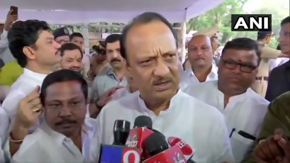 After resigning as Dy CM, Ajit Pawar attends NCP MLAs' meet at YB Chavan Centre