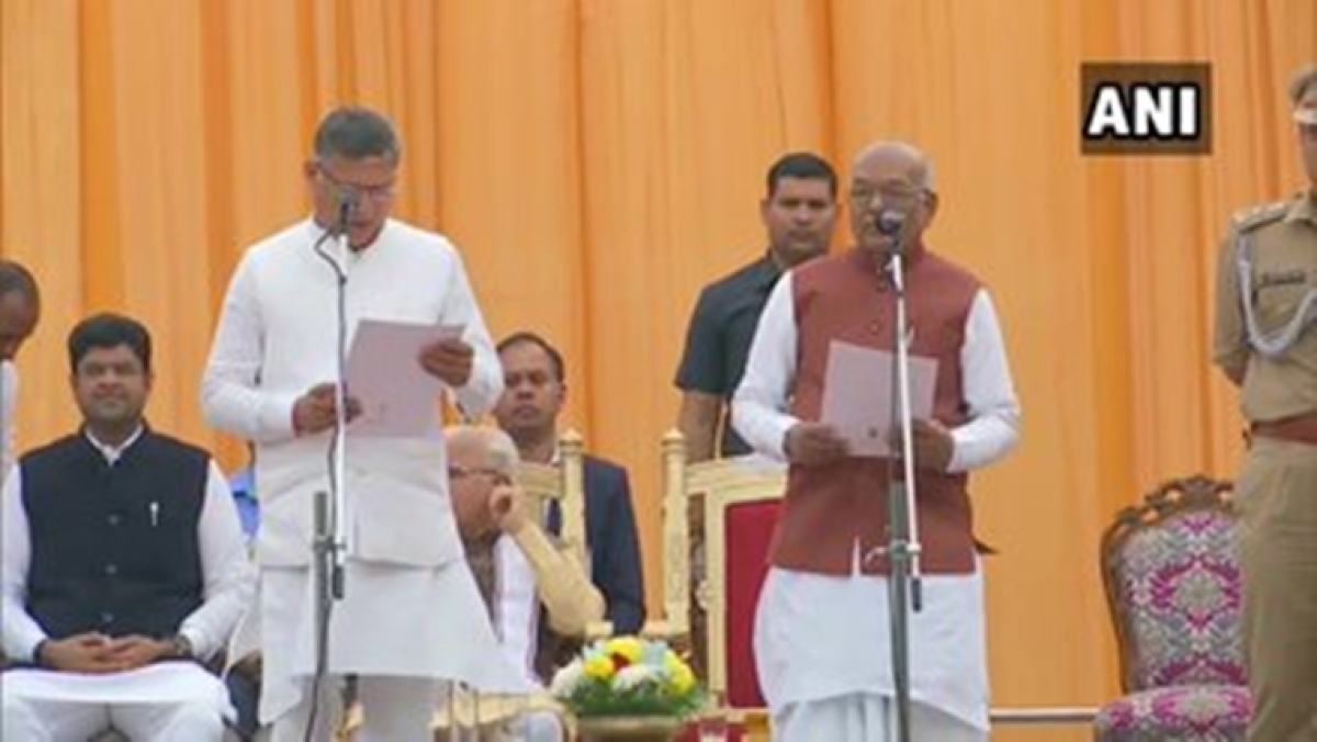 Manohar Lal Khattar expands Haryana cabinet; BJP leader Anil Vij, nine others sworn in