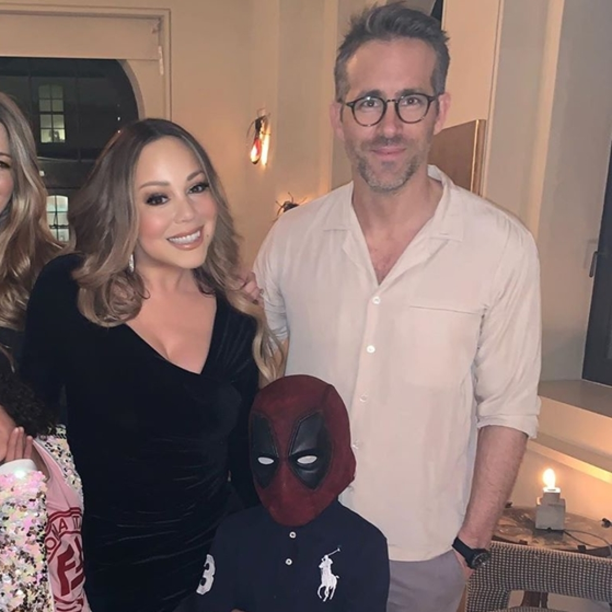 Will he ever recover? Mariah Carey's son sneaks up on Ryan Reynolds wearing a 'Deadpool' mask