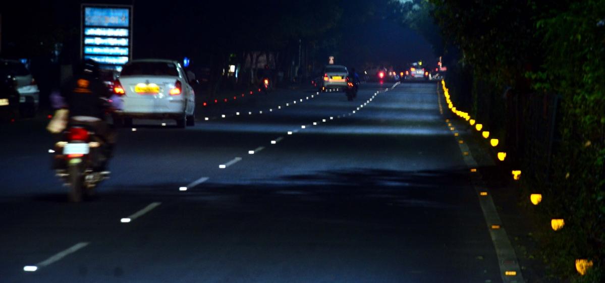 Bhopal: City roads get studs reflectors