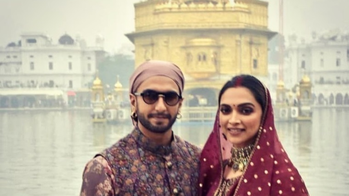 Deepika and Ranveer visit Golden Temple on their second day of wedding anniversary