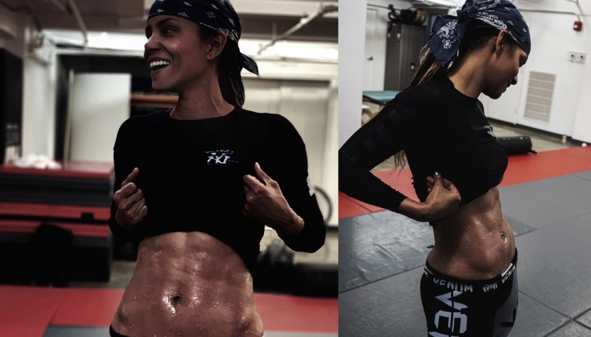 53-year-old Halle Berry's sexy abs of steel is making the internet very jealous