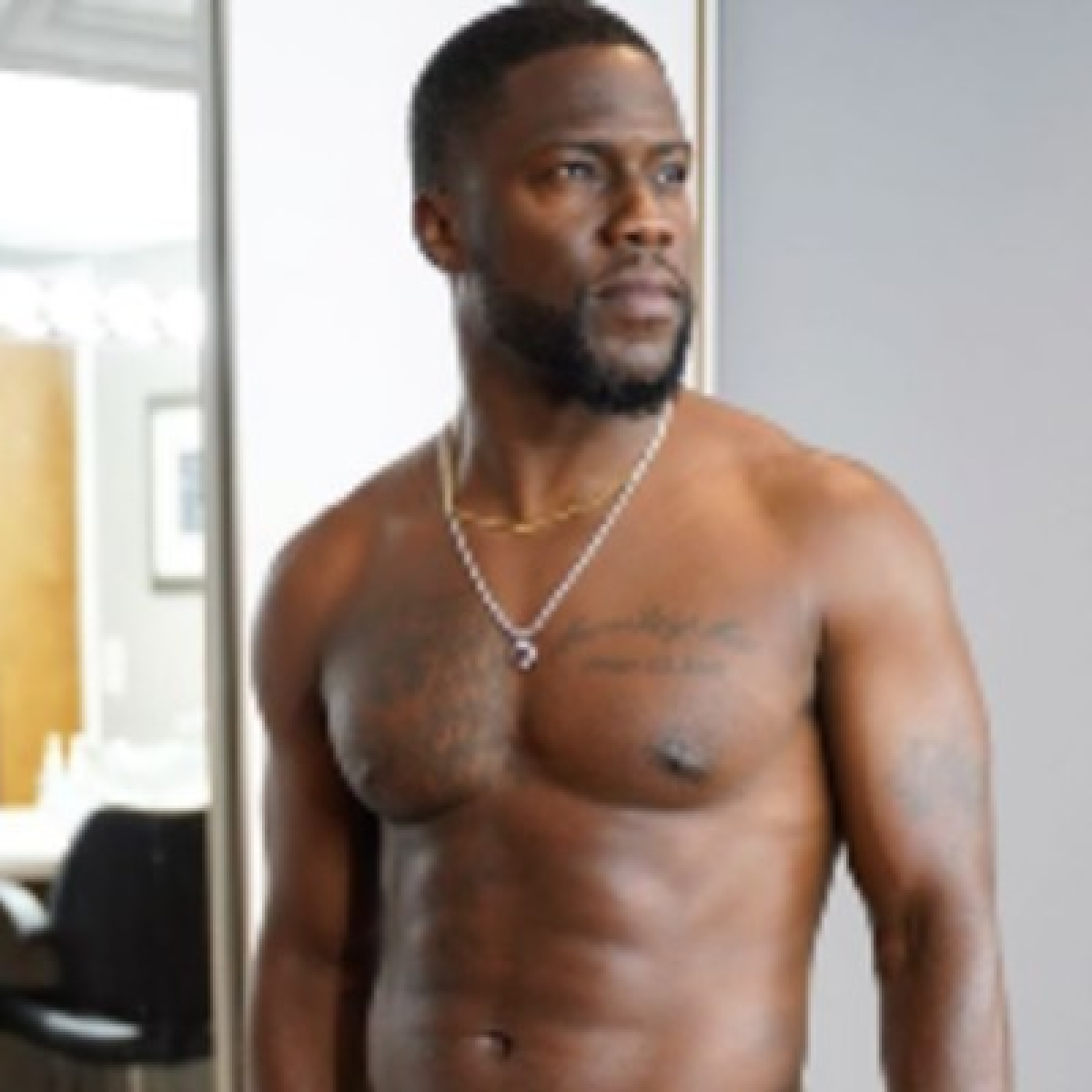 Rebuilding people: Kevin Hart sweats it out in gym post car crash