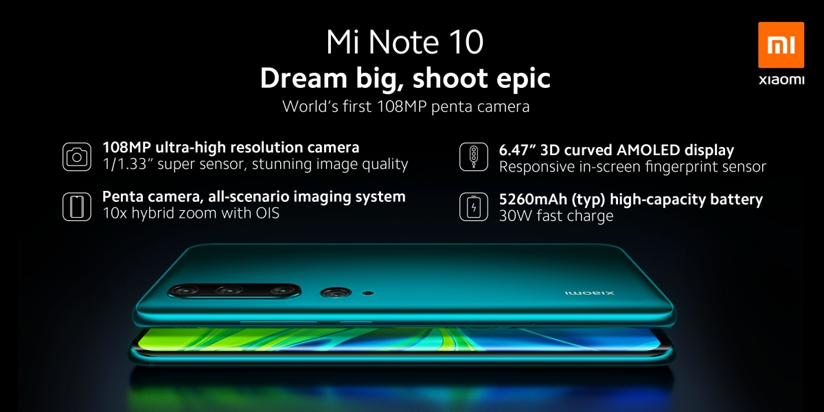 Xiaomi Mi Note 10 with 108-megapixel camera to soon launch in India