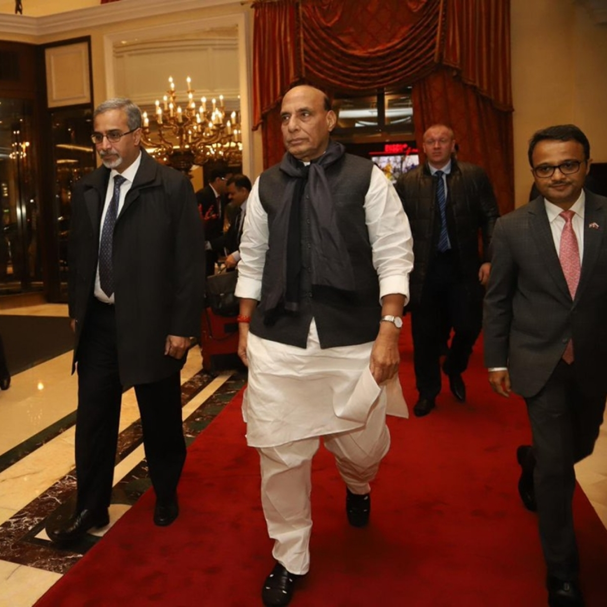 Rajnath Singh arrives in Moscow to boost Defence cooperation with Russia