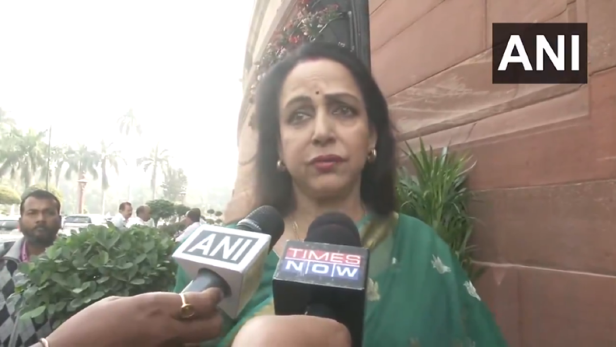 Better than dog ate my homework: Hema Malini explains why so many MPs skipped debate on pollution