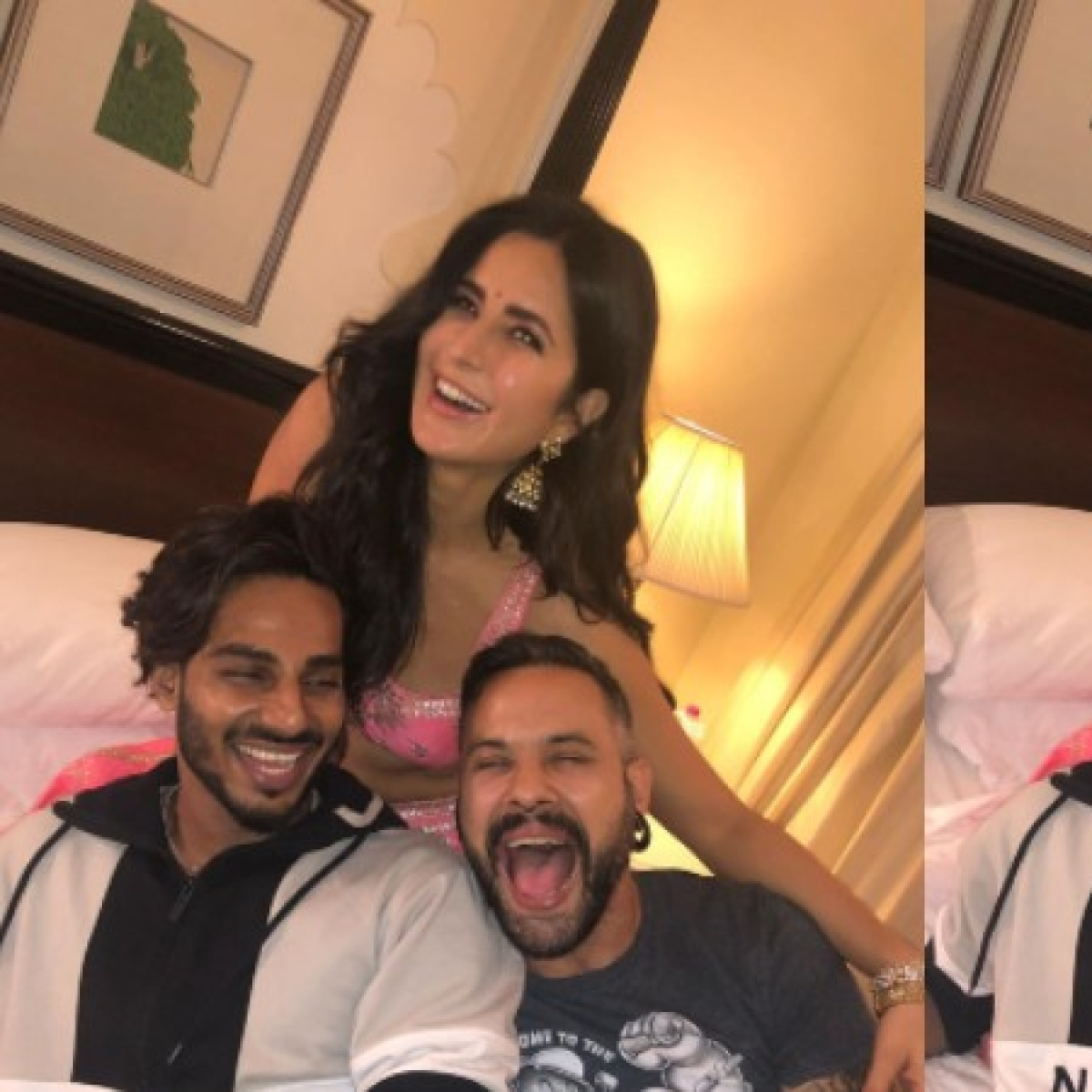 Katrina Kaif happily poses with her 'best boys', and it doesn't include Vicky Kaushal