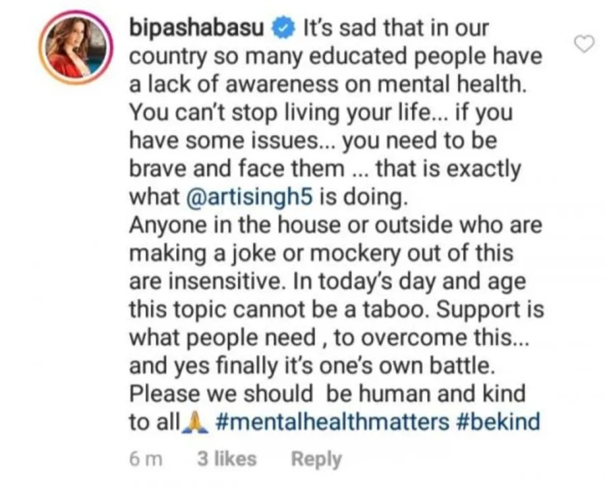 #WeStandbyArti: Bipasha Basu and Twitter support Arti Singh after 'Bigg Boss' inmates make fun of her panic attack