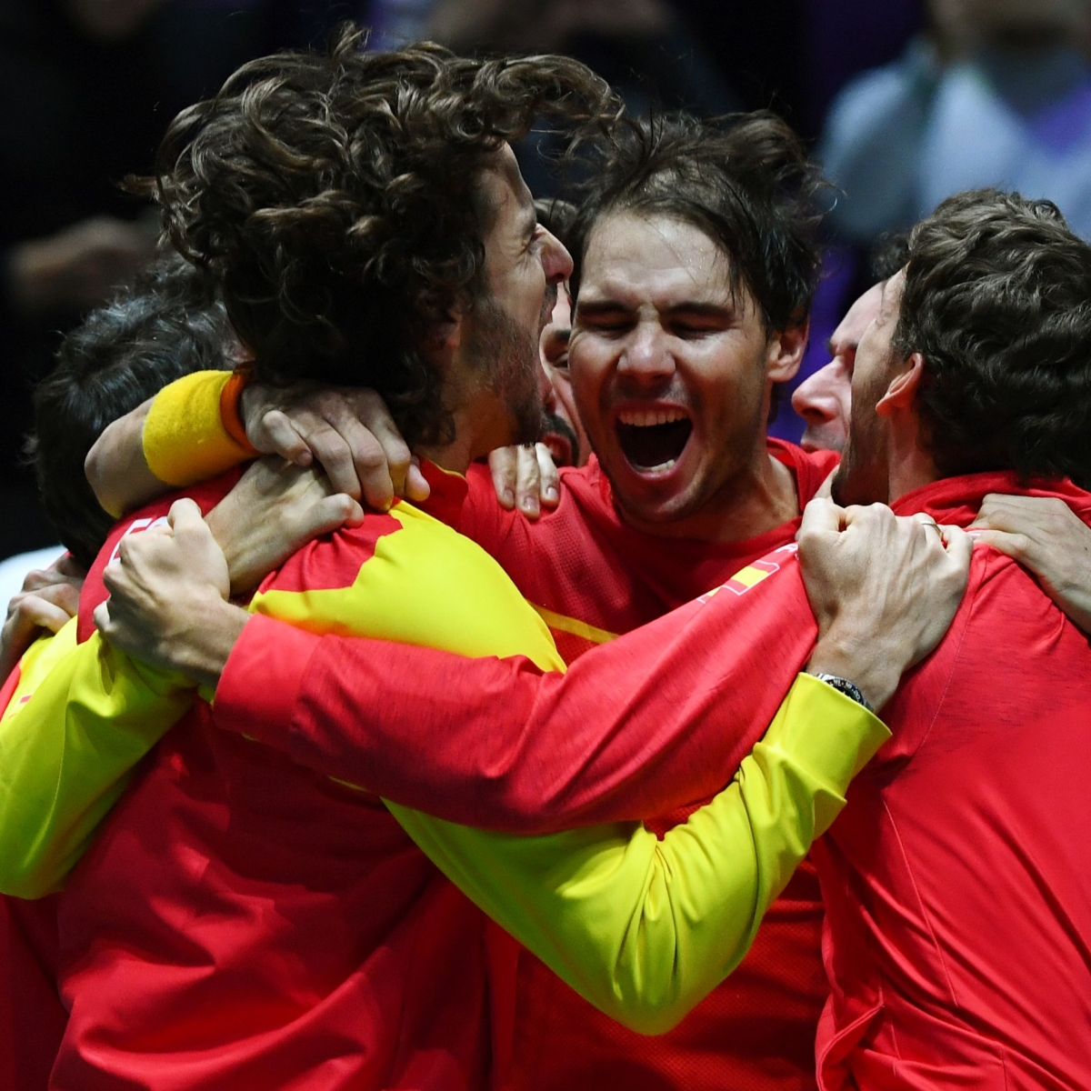 Davis cup: Rafael Nadal 'gives it all' to Spain