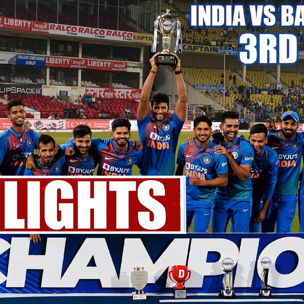 India vs Bang 3rd T20 Highlights: India Slays Bangladesh To Win Series 2-1