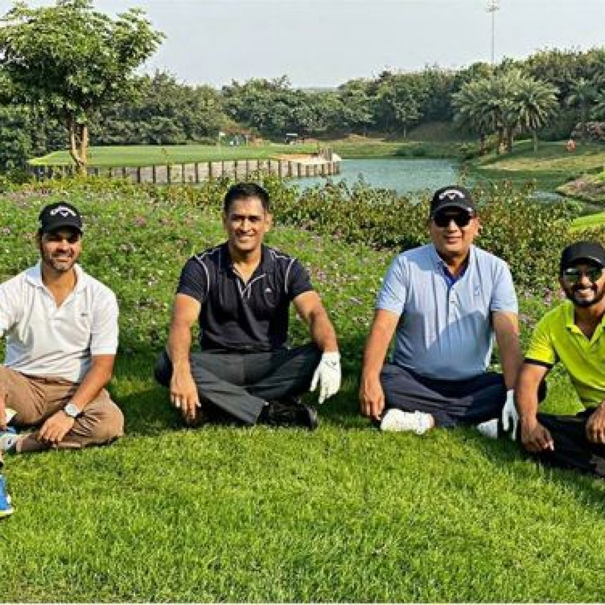 Golf, tennis, football, cricket - is there any sport that MS Dhoni can't play?