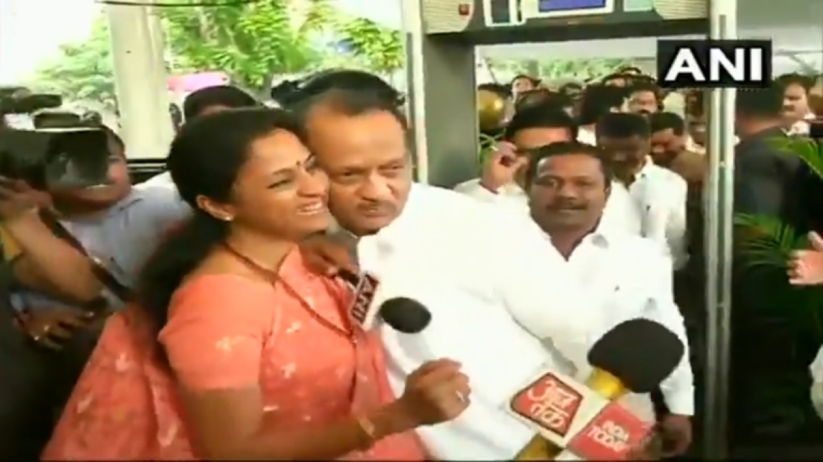 It's all about loving your family: Supriya Sule gives a warm hug to Ajit Pawar at Vidhan Bhavan