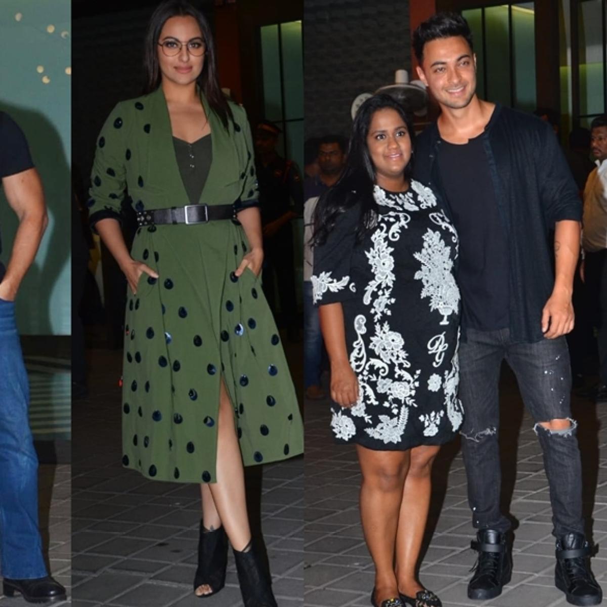 Salman, Sonakshi and other celebs attend Aayush-Arpita's wedding anniversary bash
