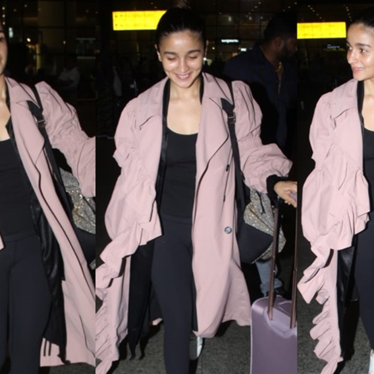 Airport Diaries: Alia Bhatt sashays in style wearing a quirky flared overcoat